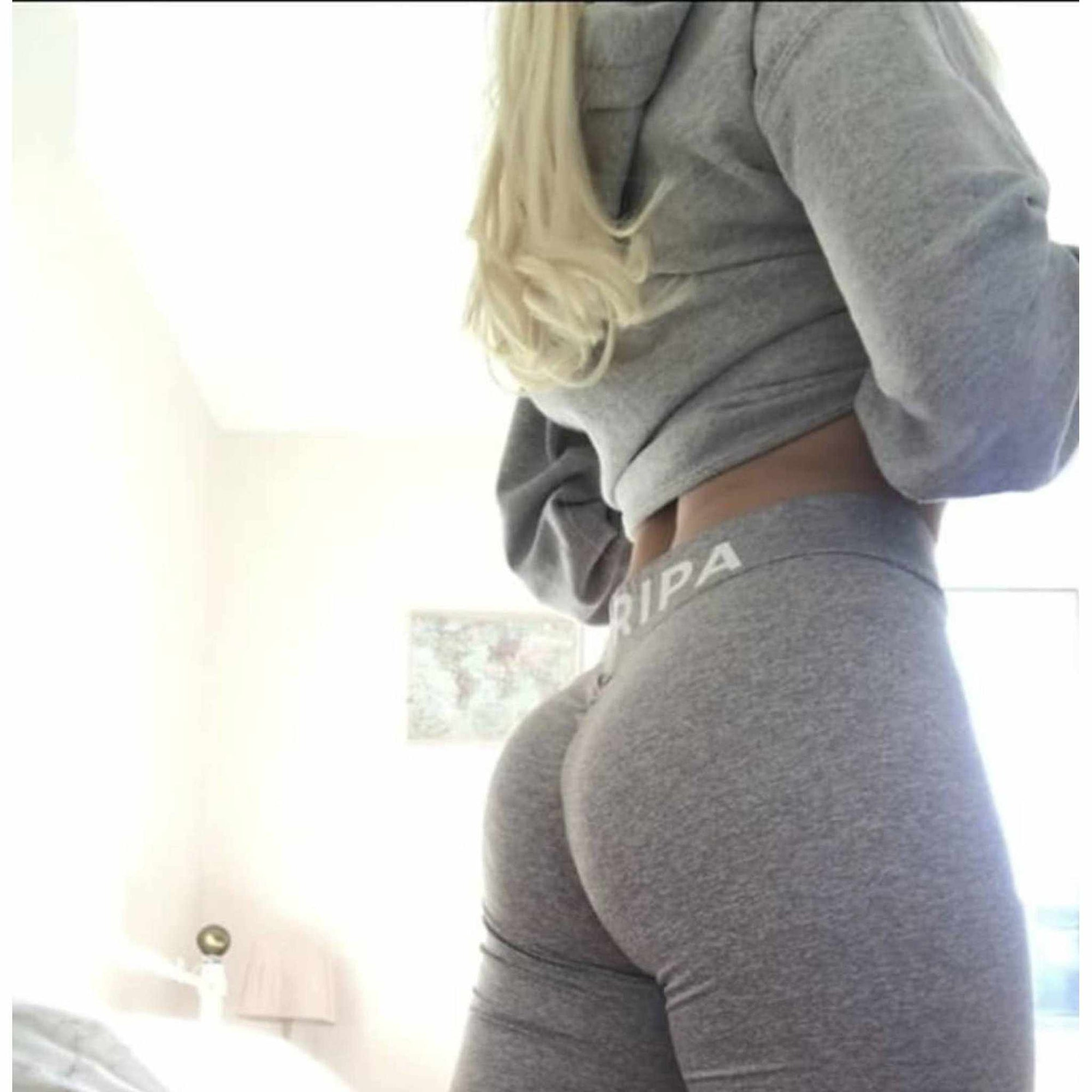 Grey Squat Proof Leggings - floripawear