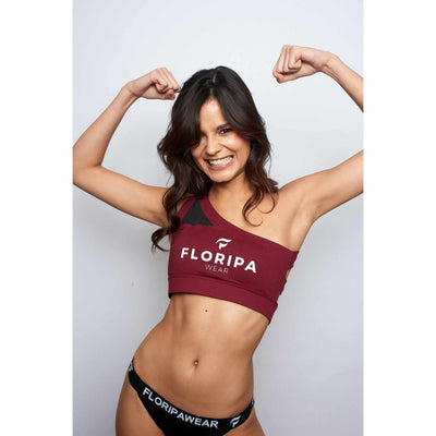 Burgundy Red Padded Sports Bra - floripawear