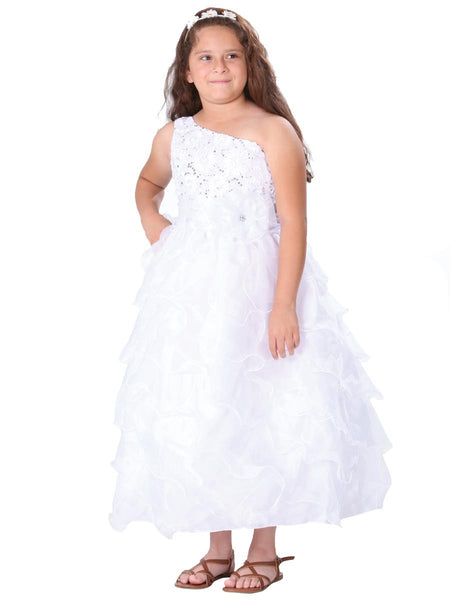 One Shoulder First Communion Dress