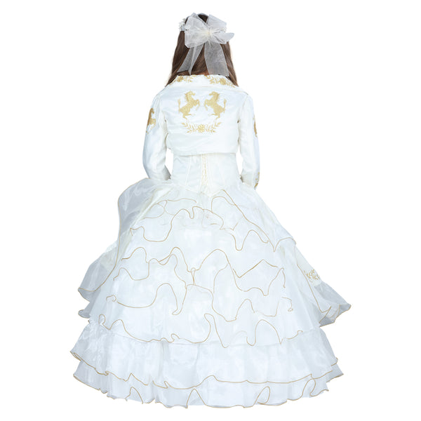 Ivory & Gold Little Girl Charro Dress