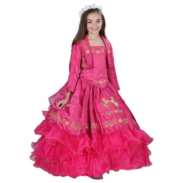 Fuchsia Little Girl Charro Dress