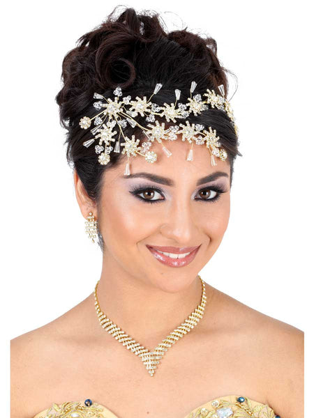 Little Stars Double Frontal Gold Headpiece