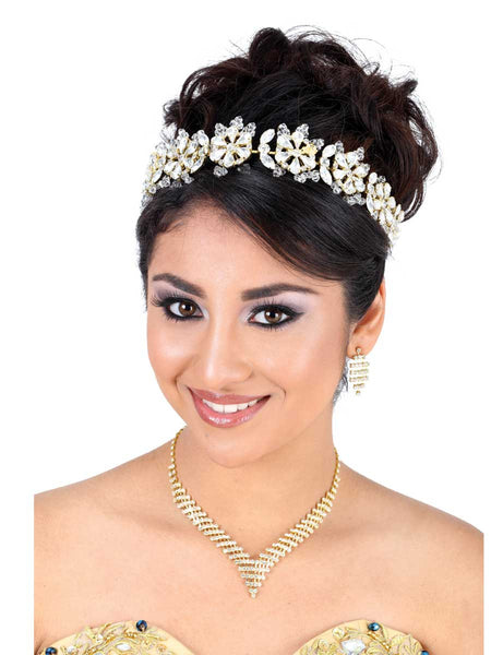 Round Flower Gold Headpiece