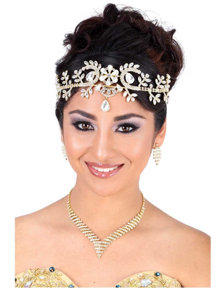 Flower Frontal Gold Headpiece