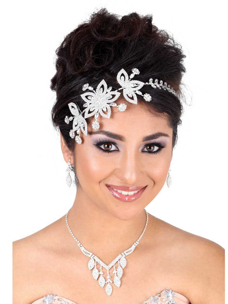 Silver Flower Headpiece