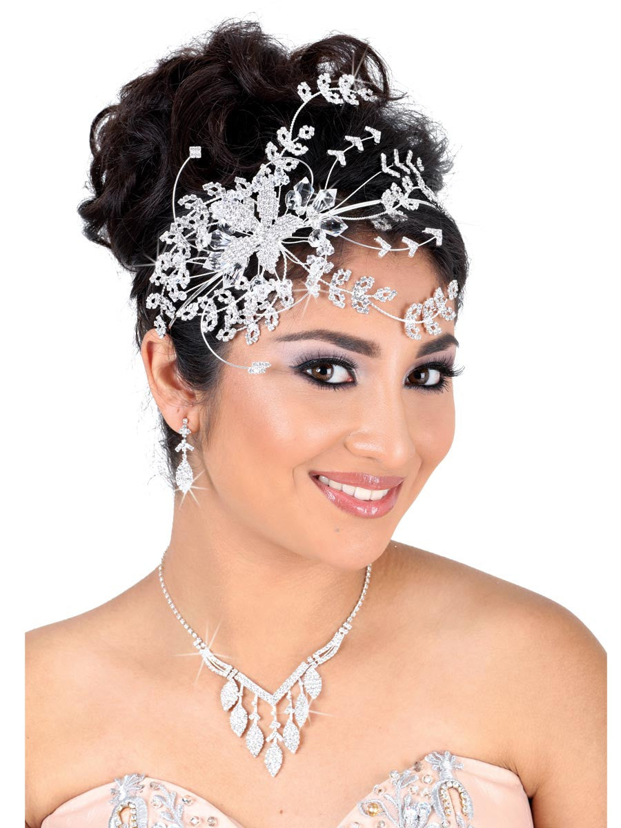 Extravagant Diamond Silver Headpiece