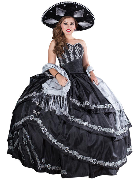 Black and Silver Quinceañera Dress