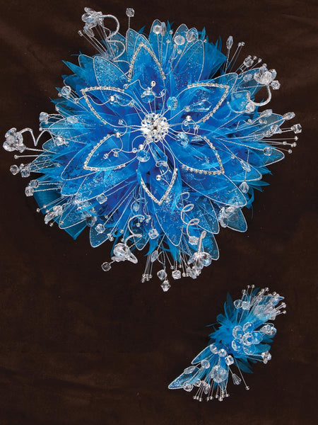 Diamond Flower/ Satin Bouquet Turquoise