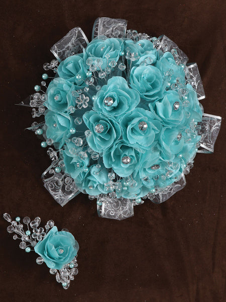 Rose Bouquet Aqua