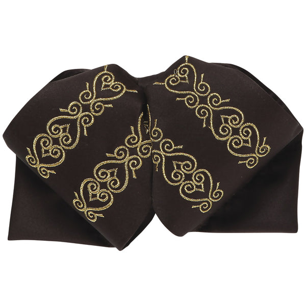 Brown & Gold Horseshoe Charro Bow