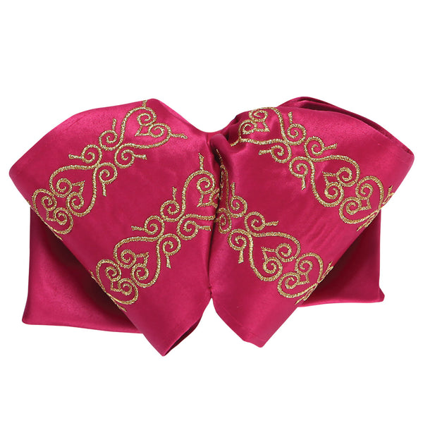 Fuchsia & Gold Horseshoe Charro Bow