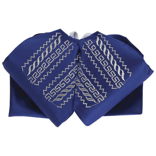 Royal Blue with Silver Charro Bow