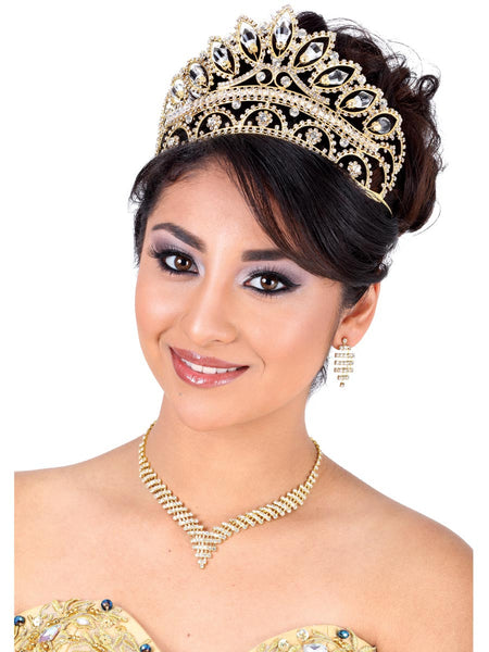Large Crystal Gold Crown