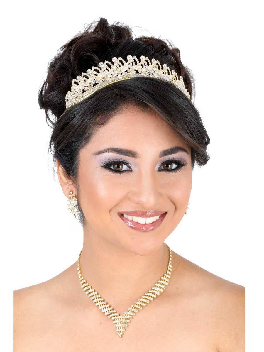 Small Crossing Gold Tiara