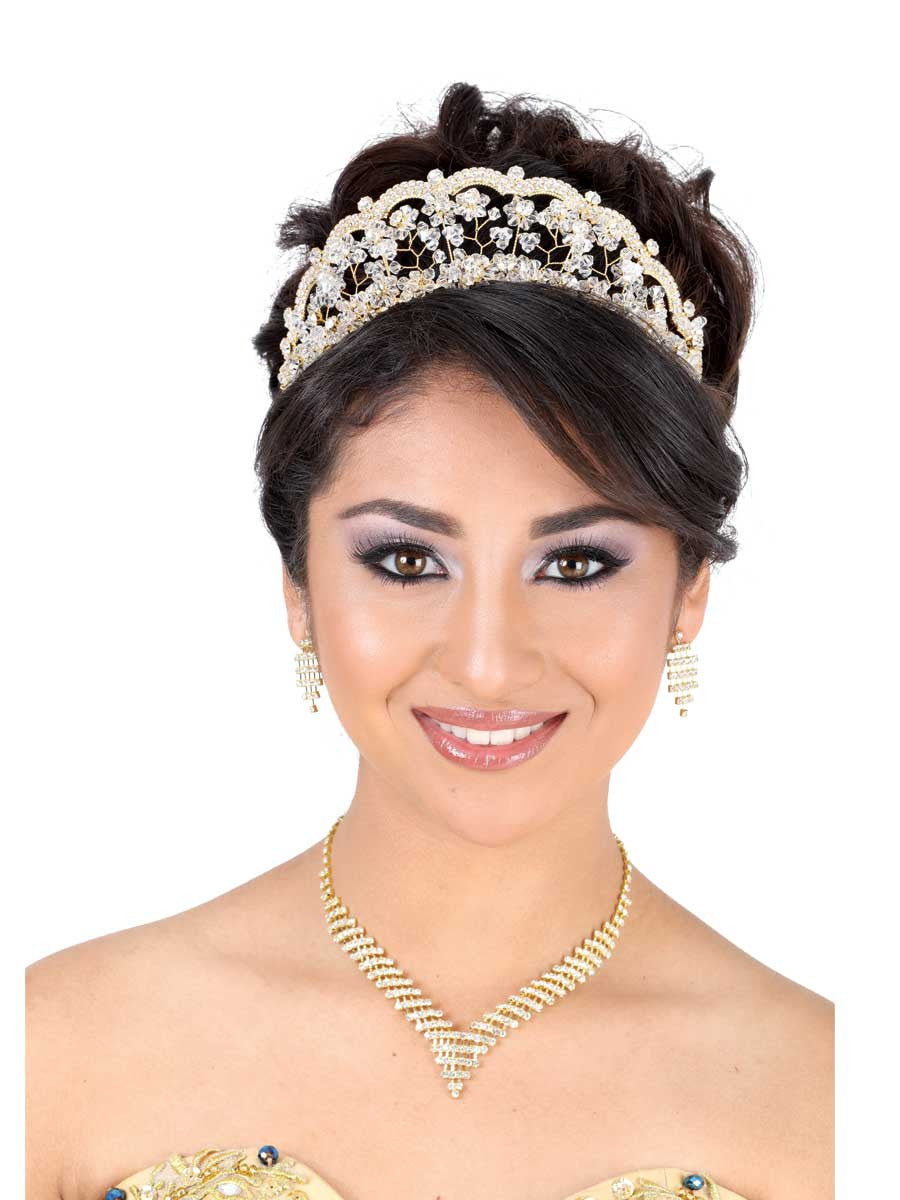Floral Medium Gold Tiara