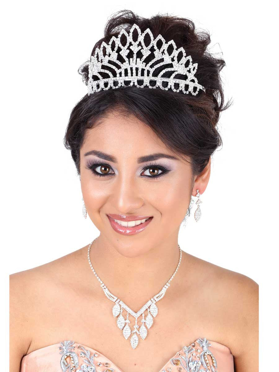 Silver Petal Shaped Crown