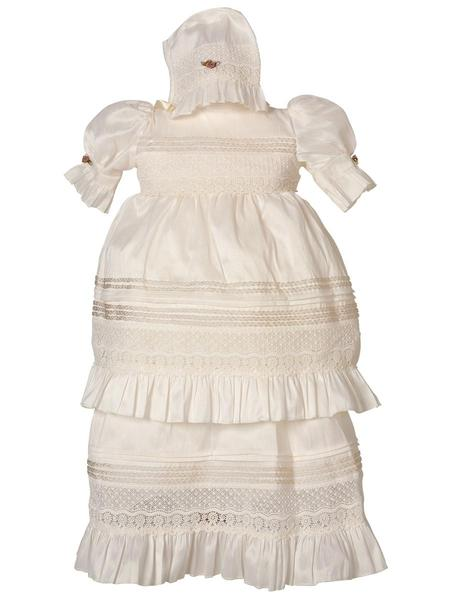 Little Girl Plain Baptism Dress