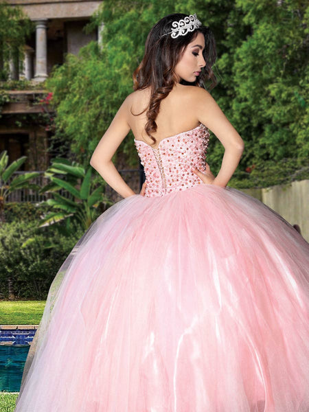 Light Pink Pearl Quinceañera Dress