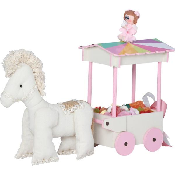 Pastel Colors & Doll Horse Carriage Centerpiece