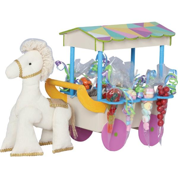 Pastel Colors Horse Carriage Centerpiece
