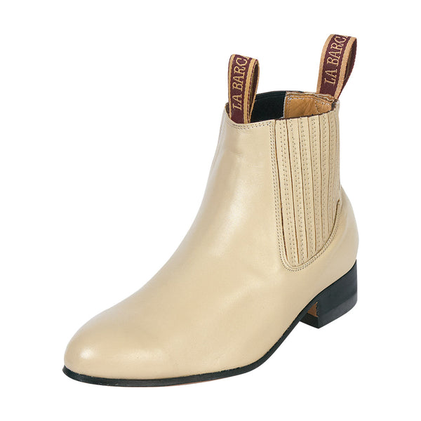 Male Bone Traditional Charro Ankle Boot