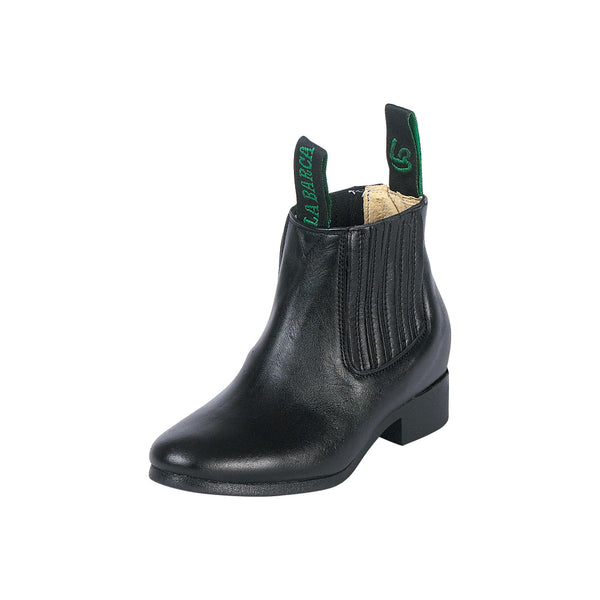 Little Boy Black Traditional Charro Ankle Boot