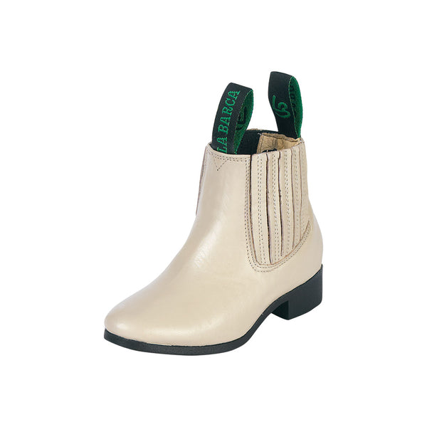 Little Boy Bone Traditional Charro Ankle Boot