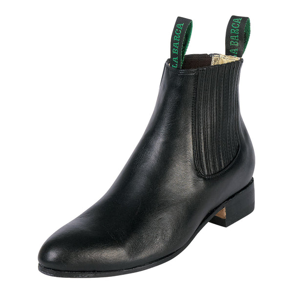 Male Black Traditional Charro Ankle Boot