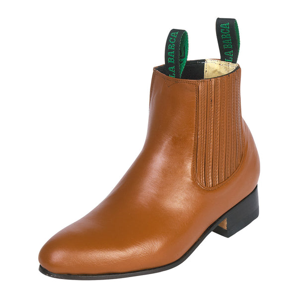 Male Camel Traditional Charro Ankle Boot