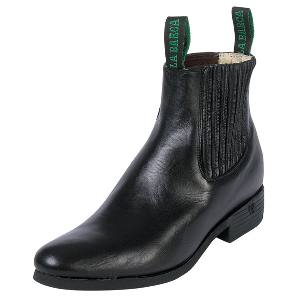 Male Black Economic Traditional Charro Ankle Boot