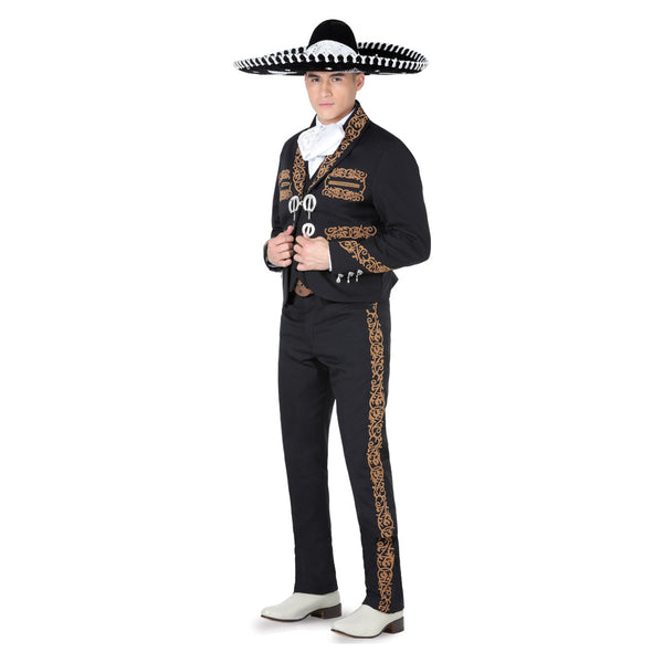 Black & Brown Grecado Charro Suit