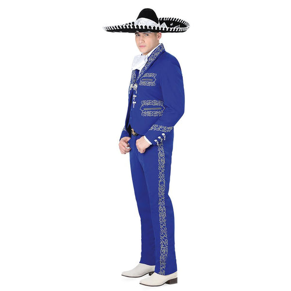 Royal Blue & Gray Grecado Charro Suit