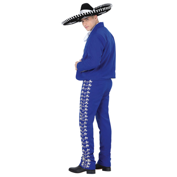 Royal Blue & Silver Charro Suit