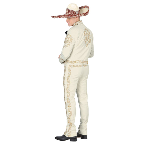 Ivory & Gold Stitched Charro Suit