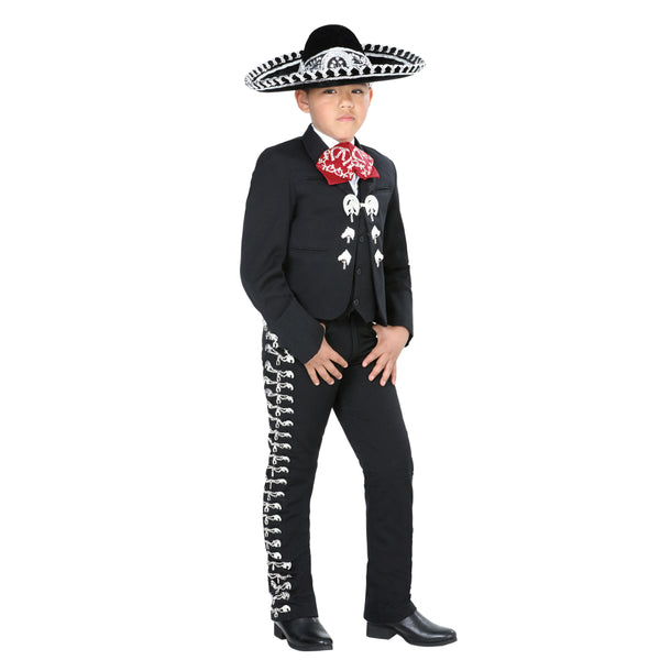 Black & Silver Little Boy Charro Suit