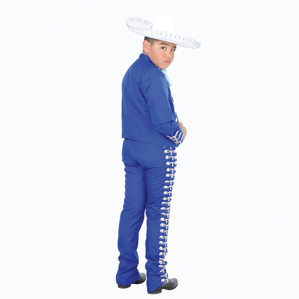 Royal Blue & Silver Little Boy Charro Suit