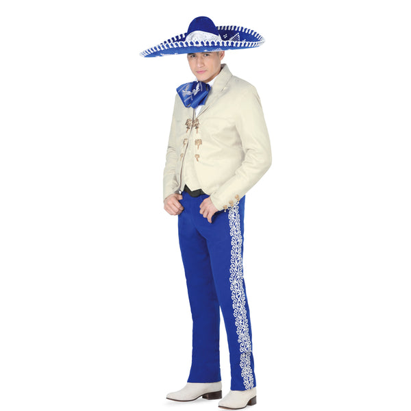 Ivory & Royal Blue Charro Suit