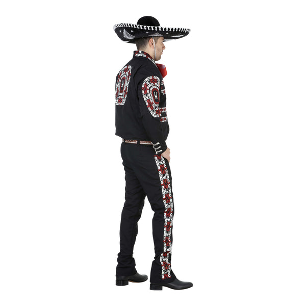 Black, Red, & White Charro Suit