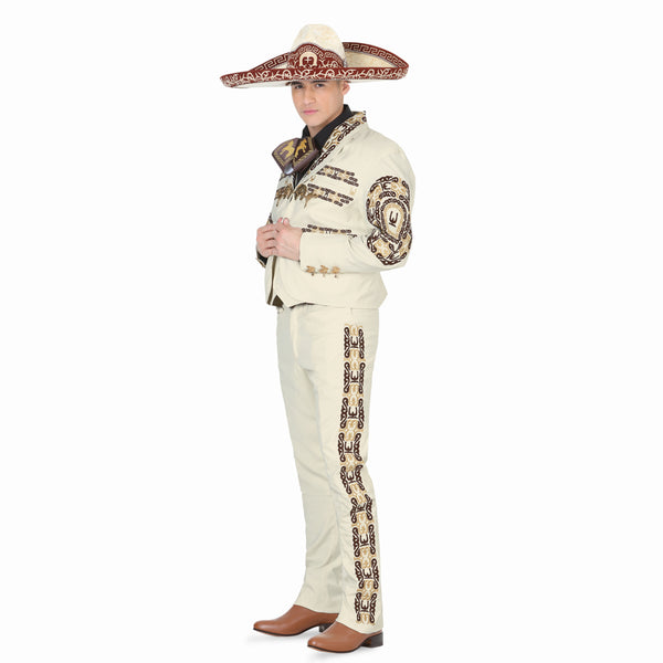 Ivory, Brown, & Gold Charro Suit