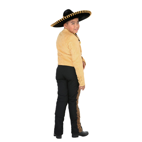 Mustard Suede Jacket & Grecado Pant Little Boy Charro Suit