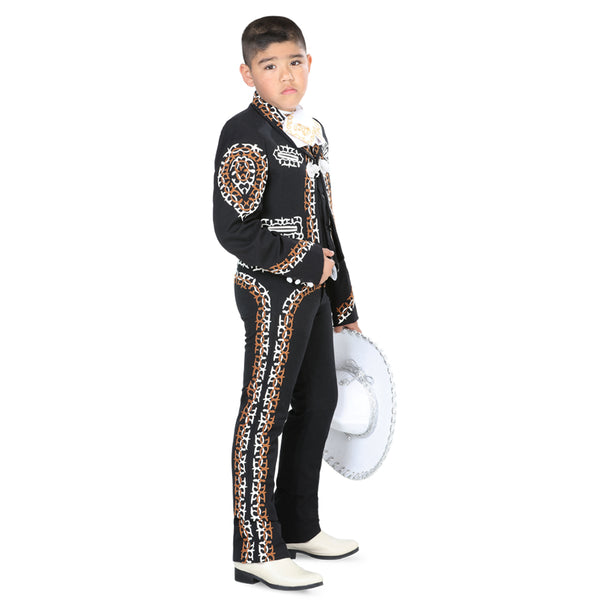 Double Grecado Little Boy Charro Suit