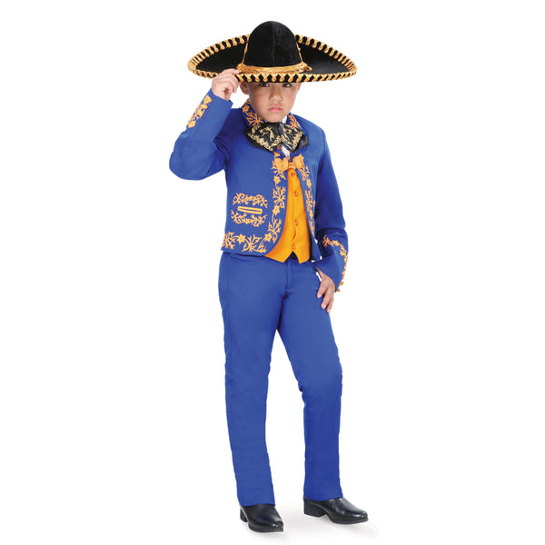 Royal Blue & Yellow Little Boy Charro Suit
