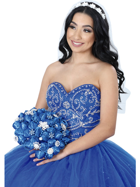 Royal Blue Quinceañera Dress