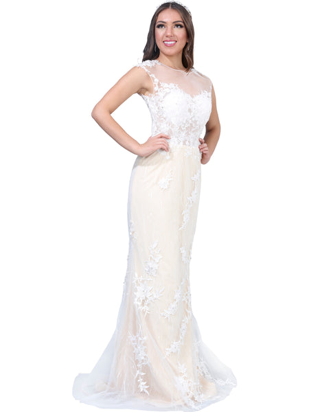 Ivory Lace 2 - Piece Wedding Gown