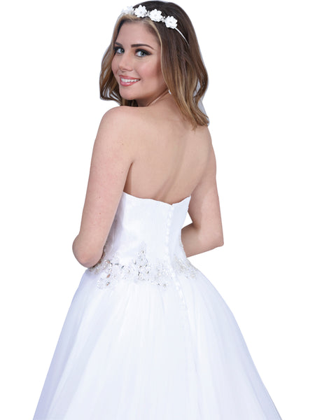Strapless A-line Wedding Gown
