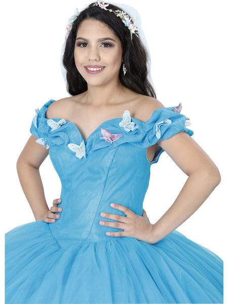 Princess Blue Quinceañera Dress
