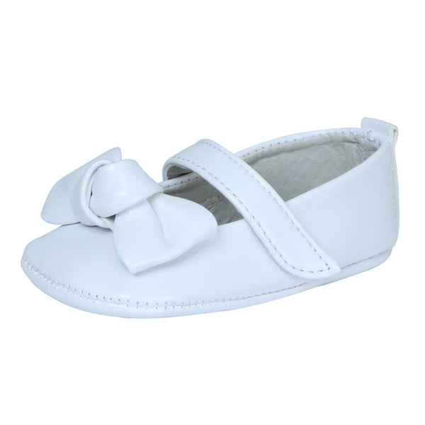 White Bow Baby Shoe