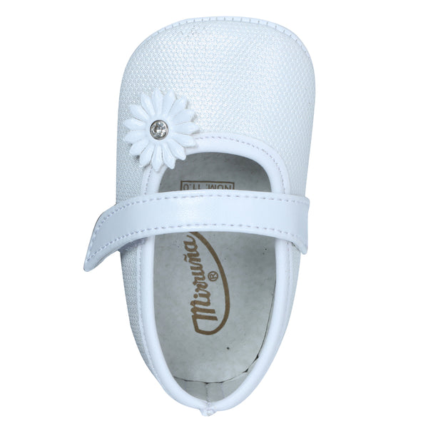 Ivory Sunflower Baby Shoe