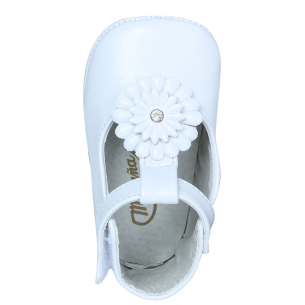 T-straped Flower Baby Shoe