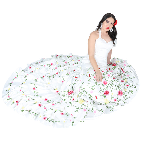 Ivory Floral Wedding Gown